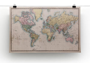 Original old hand coloured map Canvas Print or Poster - Canvas Art Rocks - 2