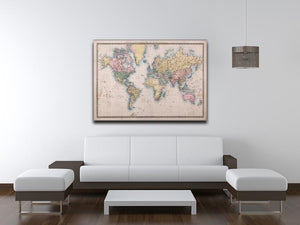 Original old hand coloured map Canvas Print or Poster - Canvas Art Rocks - 4