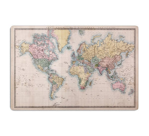 Original old hand coloured map HD Metal Print