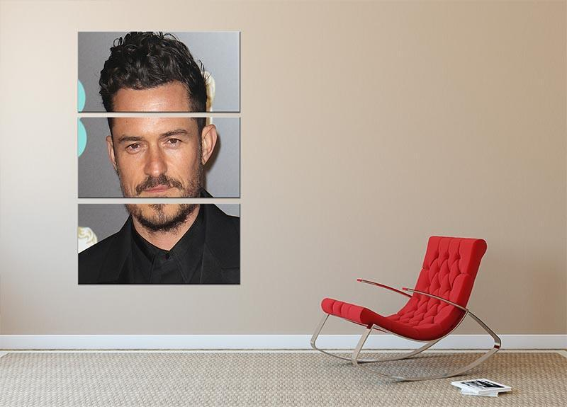 Orlando Bloom 3 Split Panel Canvas Print - Canvas Art Rocks - 2