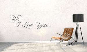 P.s I Love You Wall Decal - Canvas Art Rocks - 1
