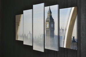 Palace of Westminster in fog 5 Split Panel Canvas  - Canvas Art Rocks - 2