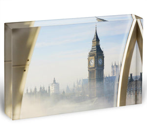 Palace of Westminster in fog Acrylic Block - Canvas Art Rocks - 1