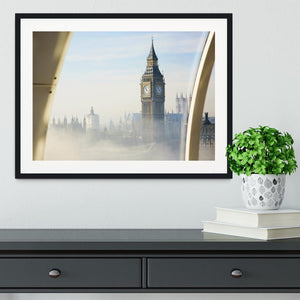 Palace of Westminster in fog Framed Print - Canvas Art Rocks - 1