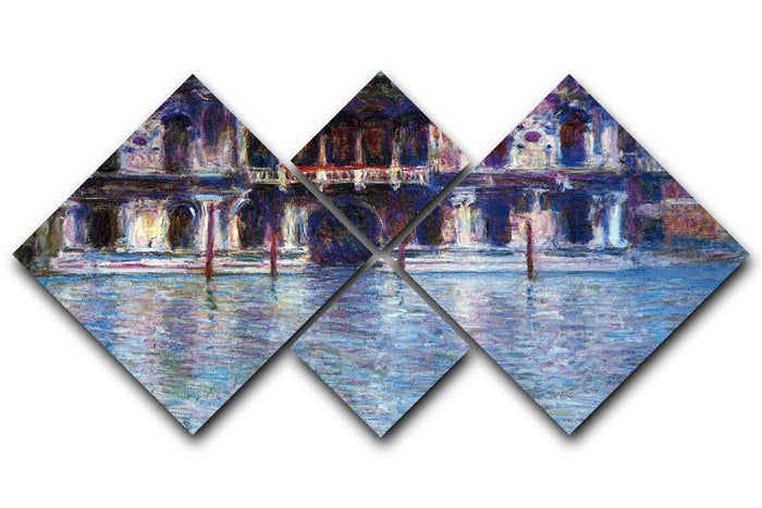 Palazzo 2 by Monet 4 Square Multi Panel Canvas