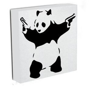 Banksy Panda with Guns Print - Canvas Art Rocks - 2