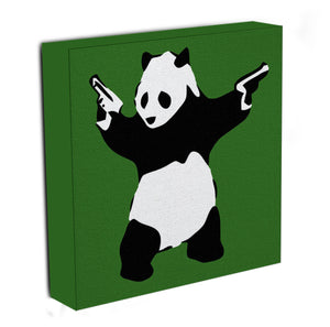 Banksy Panda with Guns Canvas Print & Poster - US Canvas Art Rocks