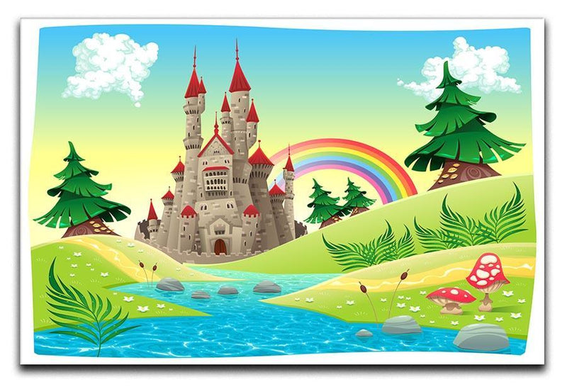 Panorama with castle Canvas Print or Poster  - Canvas Art Rocks - 1