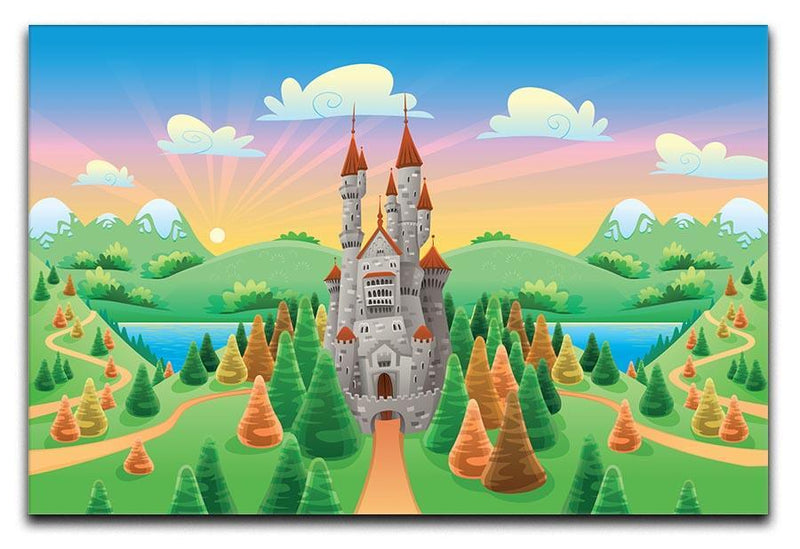 Panorama with medieval castle Canvas Print or Poster  - Canvas Art Rocks - 1