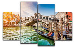 Panoramic view of Canal Grande 4 Split Panel Canvas  - Canvas Art Rocks - 1