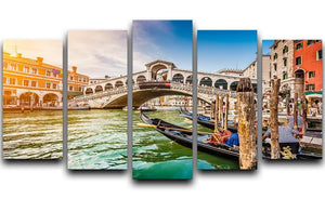 Panoramic view of Canal Grande 5 Split Panel Canvas  - Canvas Art Rocks - 1