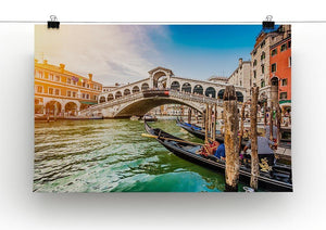 Panoramic view of Canal Grande Canvas Print or Poster - Canvas Art Rocks - 2