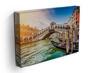 Panoramic view of Canal Grande Canvas Print or Poster - Canvas Art Rocks - 3
