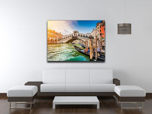 Panoramic view of Canal Grande Canvas Print or Poster - Canvas Art Rocks - 4