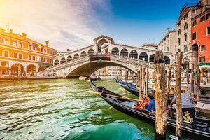 Panoramic view of Canal Grande Wall Mural Wallpaper - Canvas Art Rocks - 1