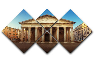 Pantheon in Rome 4 Square Multi Panel Canvas  - Canvas Art Rocks - 1