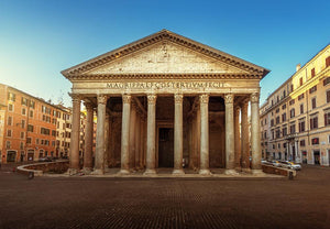 Pantheon in Rome Wall Mural Wallpaper - Canvas Art Rocks - 1