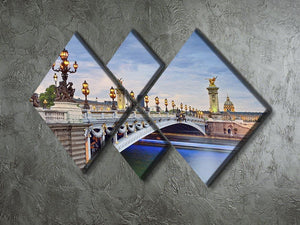 Paris image of the Alexandre III 4 Square Multi Panel Canvas  - Canvas Art Rocks - 2