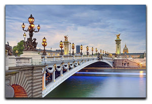 Paris image of the Alexandre III Canvas Print or Poster  - Canvas Art Rocks - 1