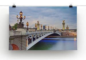 Paris image of the Alexandre III Canvas Print or Poster - Canvas Art Rocks - 2