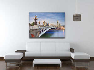 Paris image of the Alexandre III Canvas Print or Poster - Canvas Art Rocks - 4