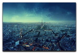 Paris skyline at sunset Canvas Print or Poster  - Canvas Art Rocks - 1