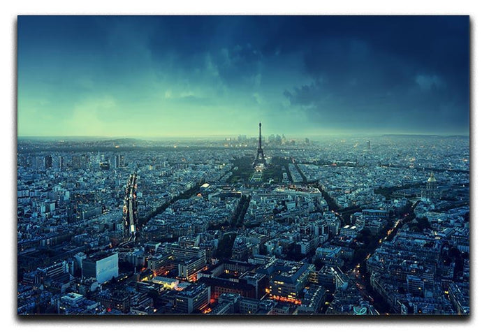 Paris skyline at sunset Canvas Print or Poster