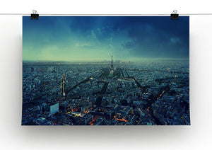 Paris skyline at sunset Canvas Print or Poster - Canvas Art Rocks - 2