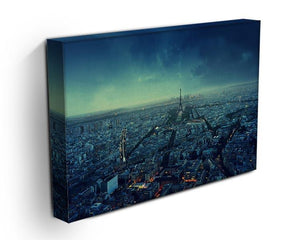 Paris skyline at sunset Canvas Print or Poster - Canvas Art Rocks - 3