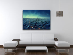 Paris skyline at sunset Canvas Print or Poster - Canvas Art Rocks - 4