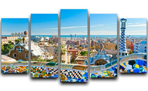 Park Guell 5 Split Panel Canvas  - Canvas Art Rocks - 1