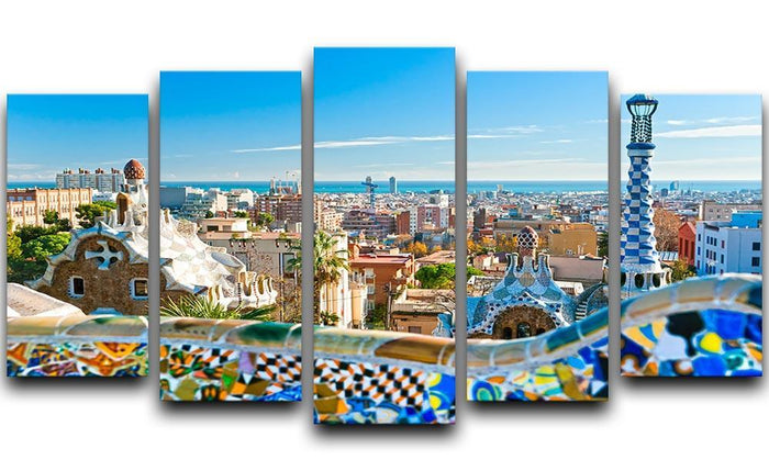 Park Guell 5 Split Panel Canvas