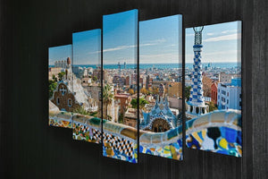 Park Guell 5 Split Panel Canvas  - Canvas Art Rocks - 2