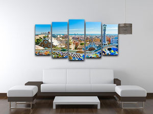 Park Guell 5 Split Panel Canvas  - Canvas Art Rocks - 3