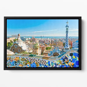 Park Guell Floating Framed Canvas