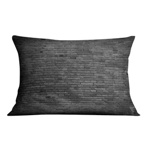 Part of black painted brick Cushion - Canvas Art Rocks - 4