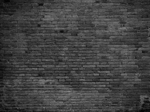 Part of black painted brick Wall Mural Wallpaper - Canvas Art Rocks - 1
