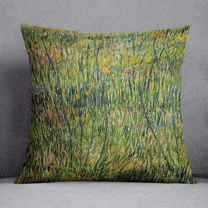 Pasture in Bloom by Van Gogh Throw Pillow
