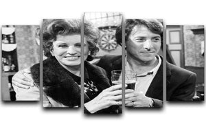 Pat Phoenix and Dustin Hoffman Rovers Return 5 Split Panel Canvas  - Canvas Art Rocks - 1