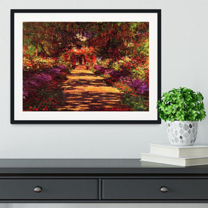Path in Monets garden in Giverny by Monet Framed Print - Canvas Art Rocks - 1