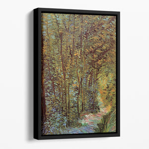 Path in the Woods by Van Gogh Floating Framed Canvas