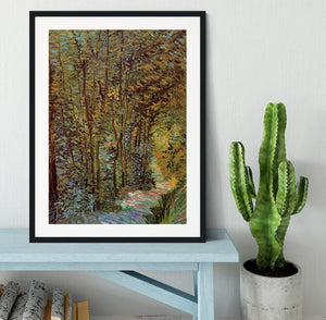 Path in the Woods by Van Gogh Framed Print - Canvas Art Rocks - 1