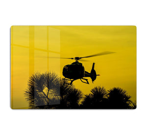 Patrol Helicopter flying in the sky HD Metal Print
