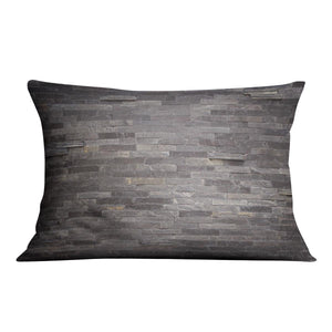Pattern of black slate Cushion - Canvas Art Rocks - 4