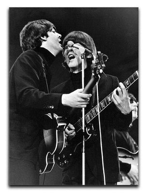 Paul McCartney and George Harrison on stage Canvas Print or Poster  - Canvas Art Rocks - 1