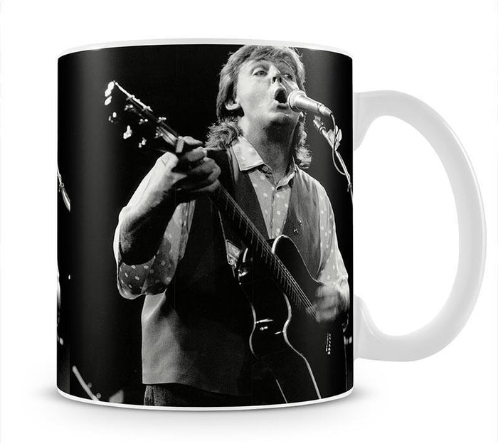 Paul McCartney on stage in 1989 Mug
