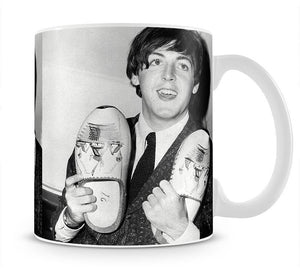 Paul McCartney with a pair of clogs Mug - Canvas Art Rocks - 1