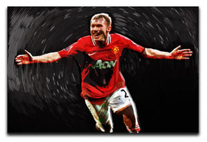 Paul Scholes Man United Print - Canvas Art Rocks - 1