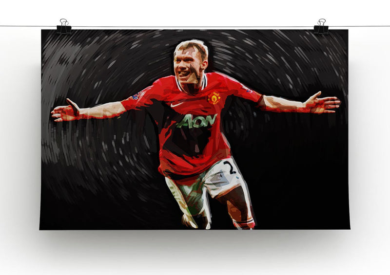 Paul Scholes Man United Print - Canvas Art Rocks - 2