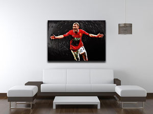 Paul Scholes Man United Print - Canvas Art Rocks - 4